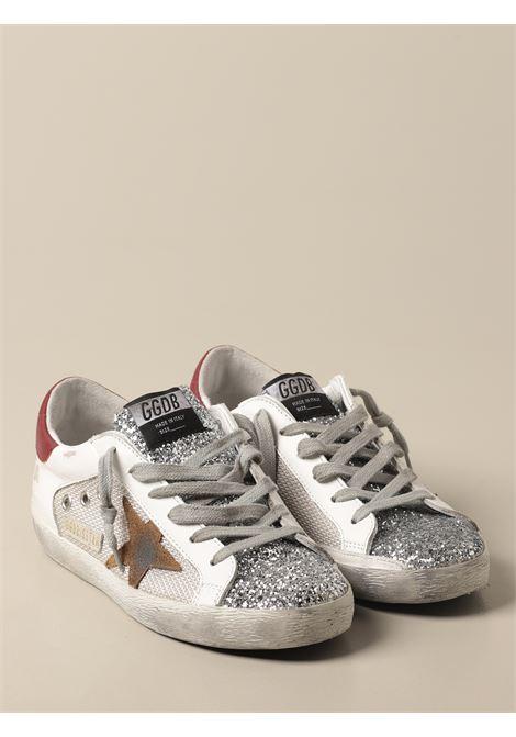 Sneaker bassa Superstar in pelle bianca e tallone a contrasto GOLDEN GOOSE | Sneakers | GWF00103-F00015680188