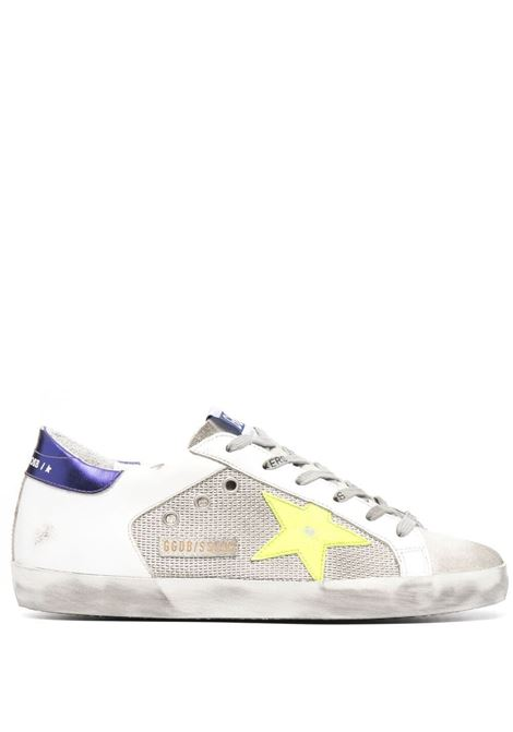 Sneakers Super-Star in pelle bianca effetto consumato GOLDEN GOOSE | Sneakers | GWF00103-F00123080914