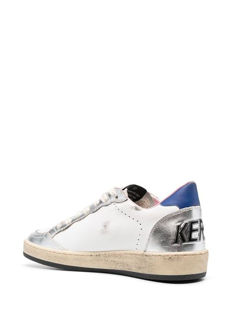 White,silver and blue leather Ballstar sneakers  GOLDEN GOOSE |  | GWF00117-F00026780267
