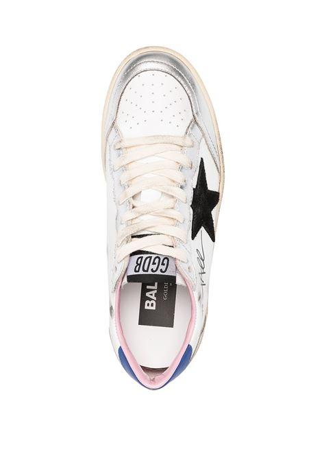 Sneakers Ballstar in pelle bianca, argento e blu GOLDEN GOOSE | Sneakers | GWF00117-F00026780267