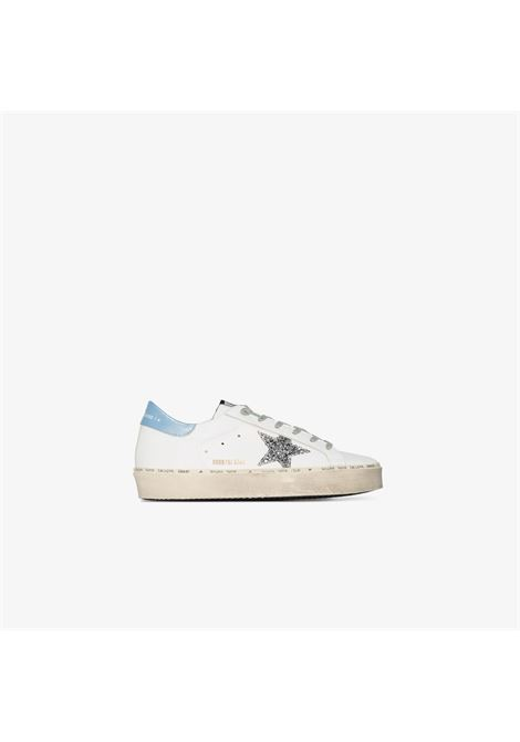White,blue and silver-tone leather Hi Star platform sneakers GOLDEN GOOSE |  | GWF00118-F00021410245