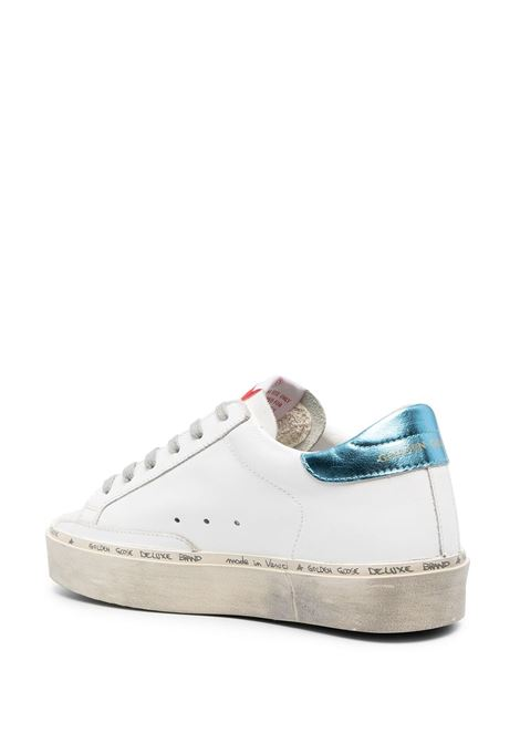 White leather Hi Star sneakers featuring violet star patch to the sides GOLDEN GOOSE |  | GWF00118-F00022210247