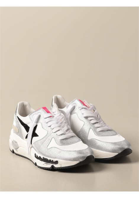 White and silver-tone leather Running Sole leather sneakers GOLDEN GOOSE |  | GWF00126-F00105870159