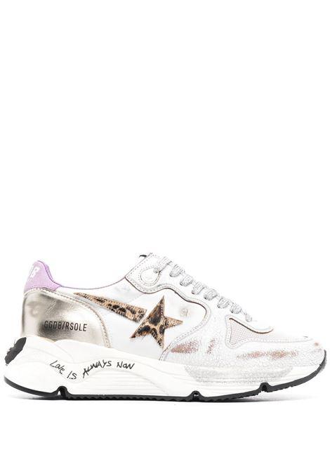 Sneakers in pelle bianca effetto vintage con patch stella leopardata GOLDEN GOOSE | Sneakers | GWF00126-F00114480869