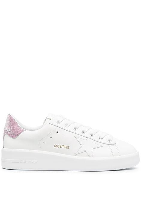 Sneaker bassa Purestar in pelle bianca e rosa con tallone a contrasto rosa GOLDEN GOOSE | Sneakers | GWF00197-F00083710310