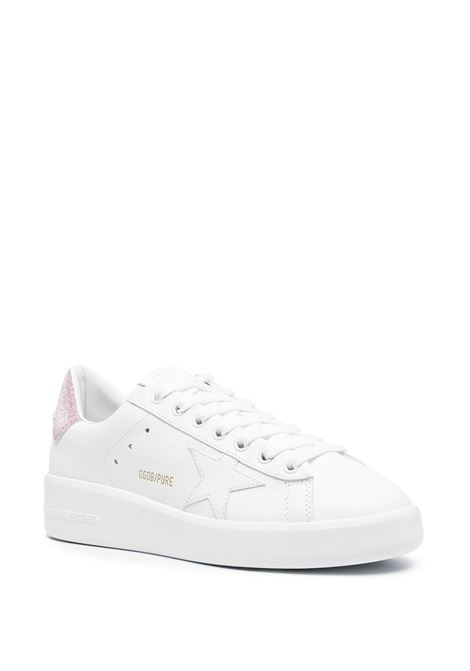 White and pink leather Purestar low-top sneakers featuring contrasting pink heel counter GOLDEN GOOSE |  | GWF00197-F00083710310