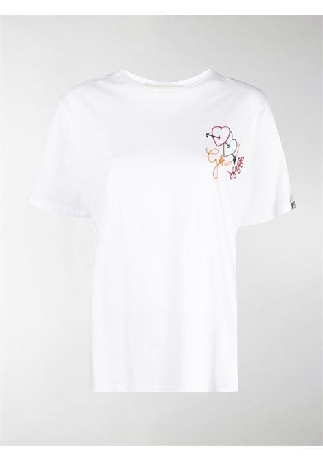 T-shirt Aira in cotone bianco con logo Golden Goose sulla manica GOLDEN GOOSE | T-shirt | GWP00615-P00035510100
