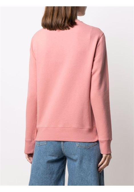 peach pink cotton sweatshirt featuring white star print  GOLDEN GOOSE |  | GWP00760-P00036025554