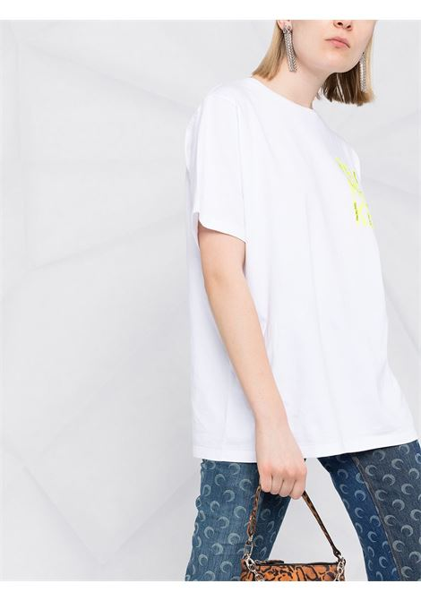 T-shirt Remake in cotone bianco con patch logo Golden Goose GOLDEN GOOSE | T-shirt | GWP00804-P00018710556