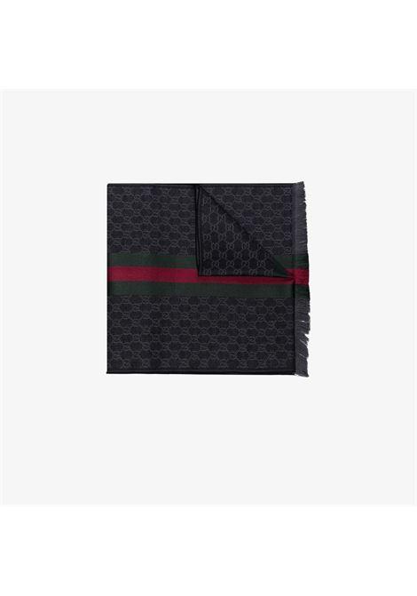 Sciarpa 180x37 in maglia jacquard con trama GG Gucci all over GUCCI | Sciarpe e foulards | 147351-4G7041166