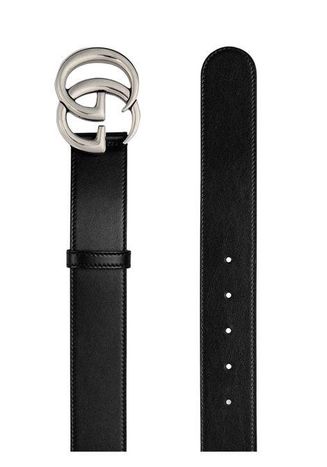 Cintura GG Marmont in pelle di vitello nera da 4 cm  GUCCI |  | 400593-0YA0P1000