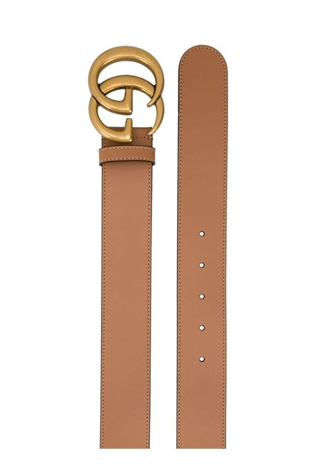 Tan calf leather 4cm GG Marmont belt featuring gold-tone hardware GUCCI |  | 400593-AP00T2845