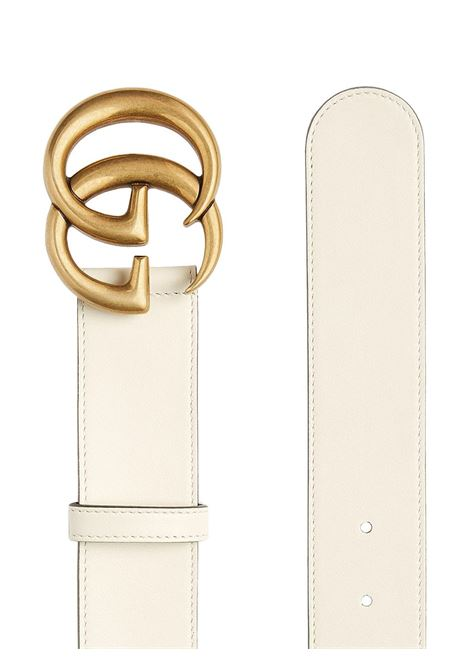 white calf leather and brass 4cm Double G buckle belt  GUCCI |  | 400593-AP00T9022