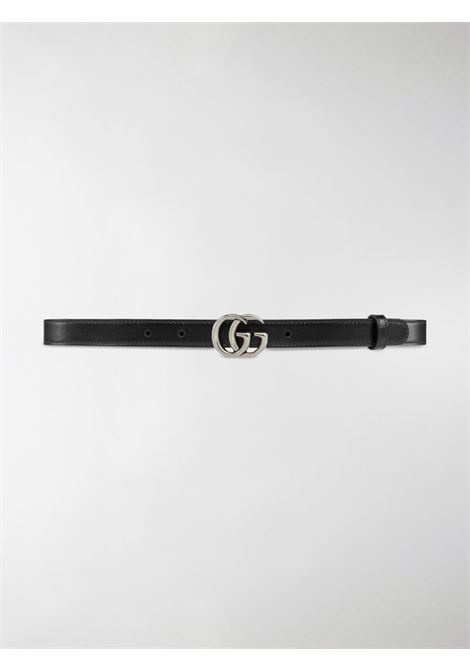 Black calf leather 2cm GG Marmont belt featuring silver GG buckle GUCCI |  | 409417-0YA0P1000