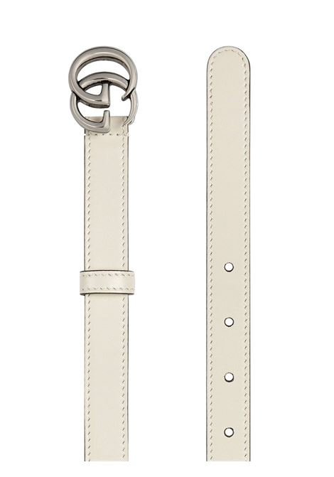 White calf leather GG Marmont 2cm belt  GUCCI |  | 409417-0YA0P9022