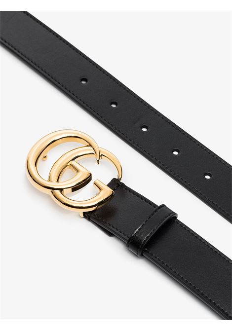 Black calf leather 3cm belt featuring gold GG Marmont buckle GUCCI |  | 414516-0YA0G1000