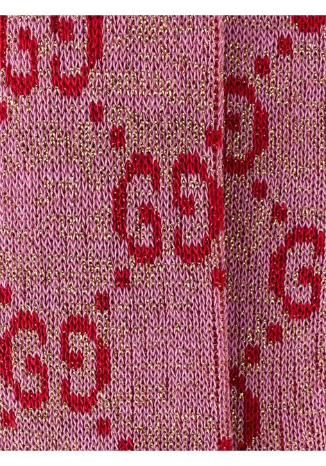lurex and cotton pink socks with GG Gucci all over print GUCCI |  | 476525-3G1995872