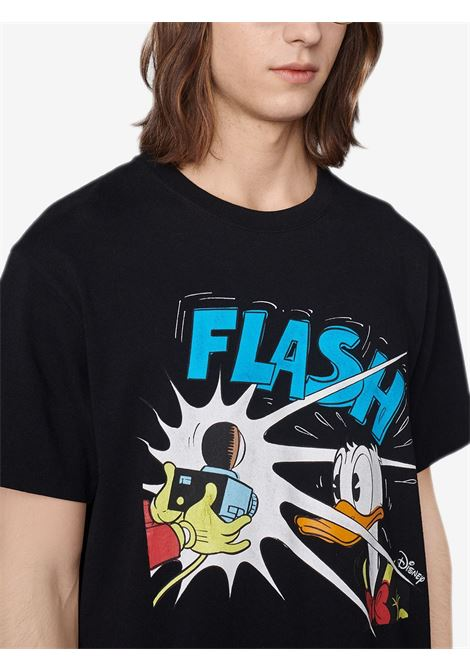 Black and multicolour cotton Gucci x Disney collection feauting cartoon Donald Duck print T-shirt  GUCCI |  | 548334-XJDAF1082
