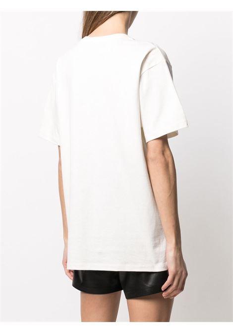 T-shirt in cotone bianco Gucci x Disney Collection con stampa cartoon di Paperino GUCCI | T-shirt | 615044-XJDBI9088