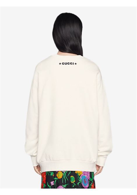 Cream white organic cotton Gucci x Disney Collection Donald Duck sweatshirt  GUCCI |  | 617964-XJDA59088