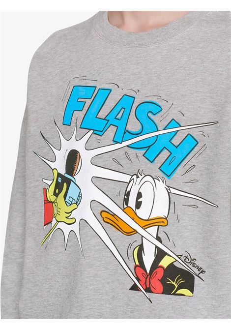 Felpa in cotone grigio Gucci x Disney Collection con Paperino in stampa cartoon GUCCI | Felpe | 623245-XJDAJ1230