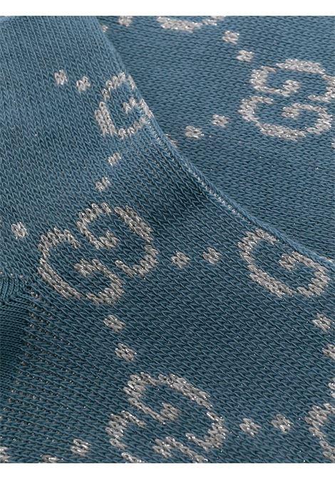 Blue cotton socks featuring lamè metallic threading GUCCI |  | 631451-3GF794563