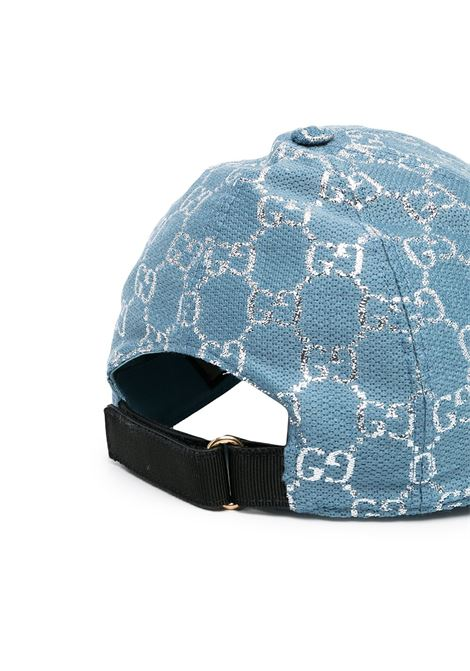 Pale blue and lamè silver wool baseball cap  GUCCI |  | 631953-3HK754660