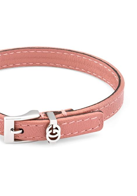 Salmon pink leather GG bracelet featuring silver-tone logo GUCCI |  | 648621-J88019090