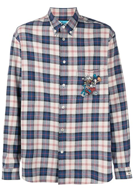 Beige and  linen Gucci x Disney Collection plaid shirt GUCCI |  | 649066-ZAGG49038