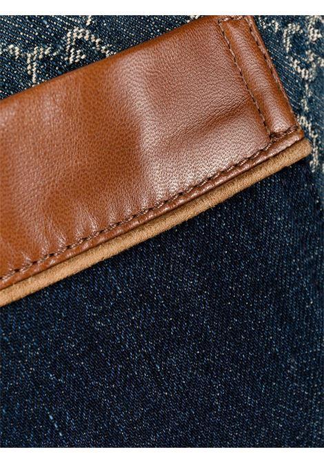 Blue organic cotton eco-washed GG Gucci Supreme print denim shorts  GUCCI |  | 649093-XDBK14266