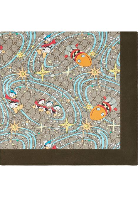 Beige silk Gucci x Disney Collection Donald Duck-print scarf  GUCCI |  | 649635-4G0019769
