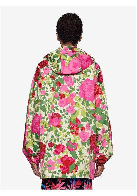 Giubbino con cappuccio in stampa floreale Ken Scott x Gucci in cotone rosa GUCCI | Giubbini | 650618-XJDA15841