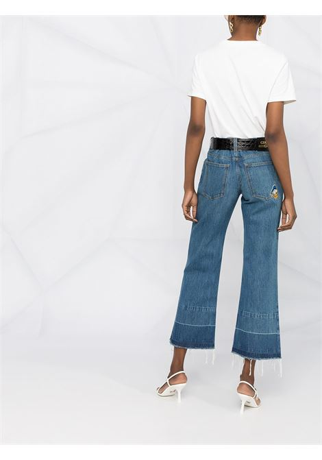 Blue cotton and leather cropped bell bottom jeans Gucci x Disney Collection  GUCCI |  | 651458-XDBKO4447