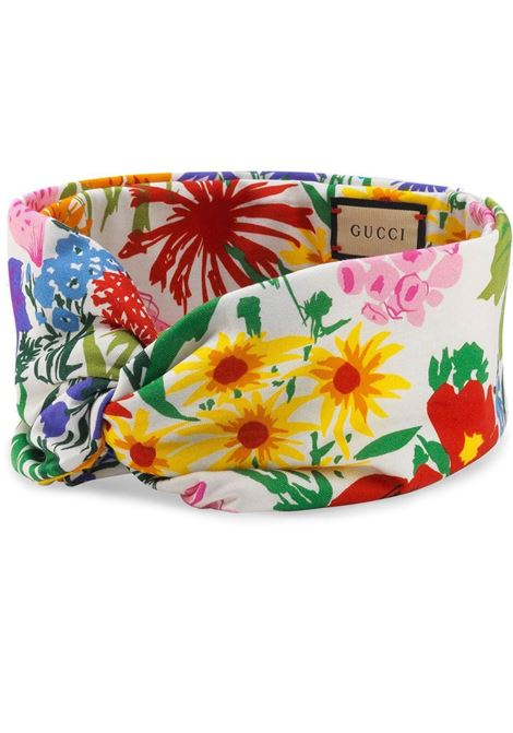 Multicoloured cotton Gucci  x Ken Scott floral headband GUCCI |  | 651546-3GA089272