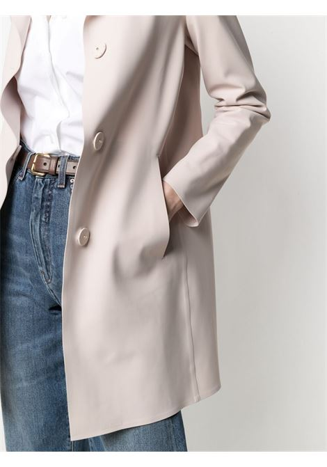 Rose pink single-breasted coat featuring notched lapels HERNO |  | CA0292-13455S4030