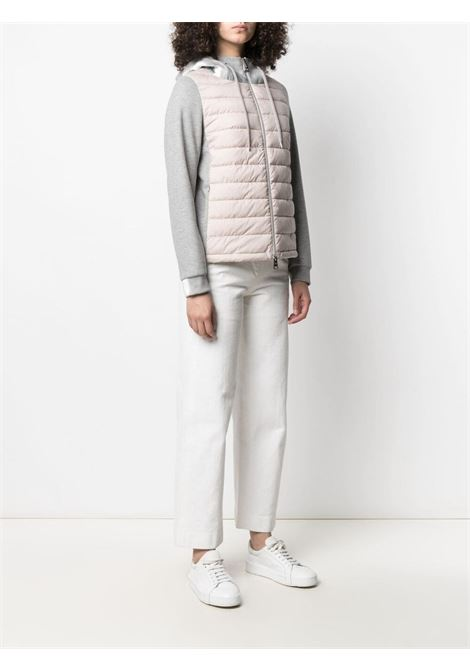 Light pink and grey cotton-blend padded-panel hooded jacket HERNO |  | PC0074D-192884030