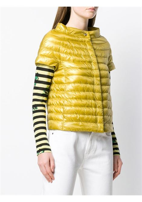 yellow sleeveless feather down jacket featuring round neck HERNO |  | PI0754DIC-120173001