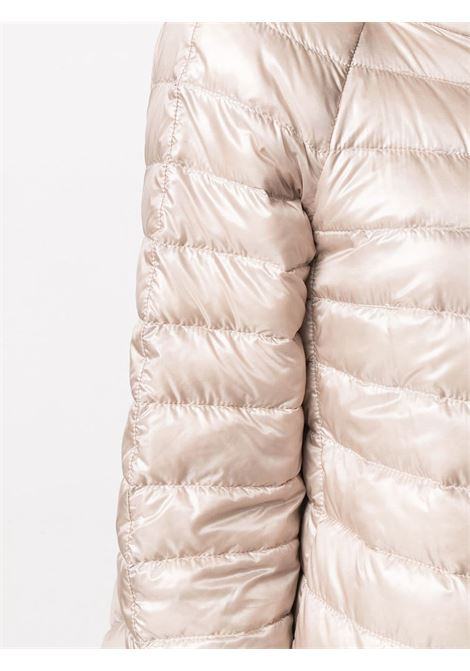 Champagne and silver-tone feather down Sofia reversible quilted jacket  HERNO |  | PI0769D-120174030