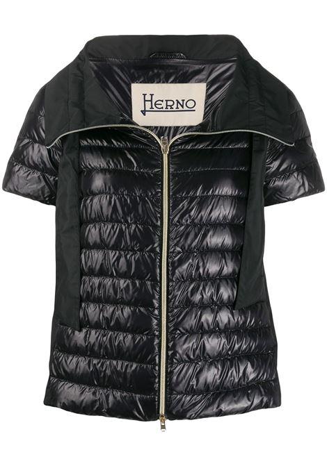 Black short sleeve puffer jacket  HERNO |  | PI1082D-120179300
