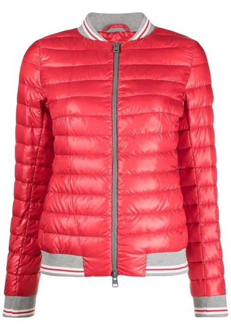 Red, white and grey feather down and cotton elasticated waistband padded jacket HERNO |  | PI1280D-123706050