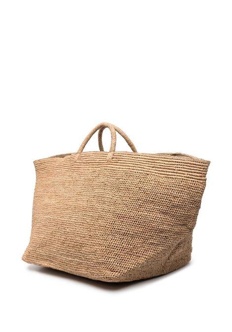 Straw-brown oversize tote bag  IBELIV |  | ENTANATEA