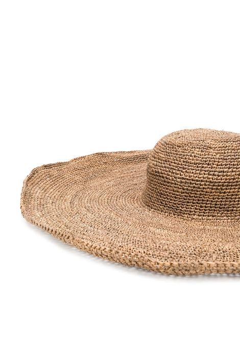 Brown raffia Sophia woven hat  IBELIV      SOPHIADARK TEA