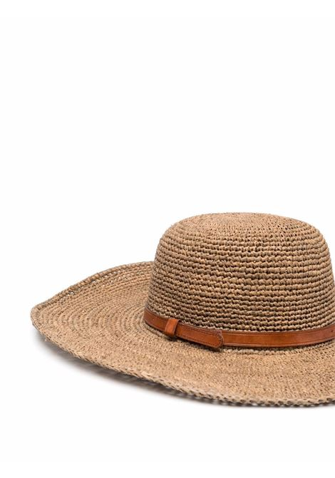 Cappello a falda larga in rafia beige IBELIV | Cappelli | TROPEZADARK TEA
