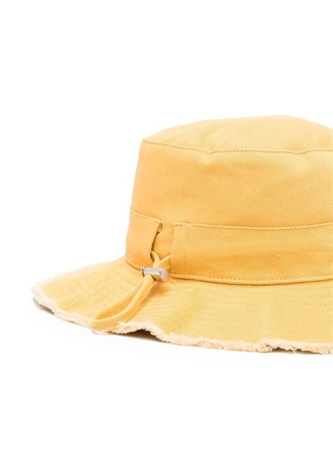 Le bob Artichaut bright yellow cotton hat featuring gold Jacquemus logo plaque JACQUEMUS |  | 211AC01-506220