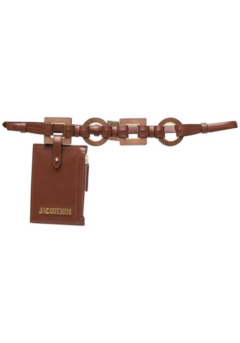 Brown and gold leather La Ceinture Ano pouch belt  JACQUEMUS |  | 211AC17-300800