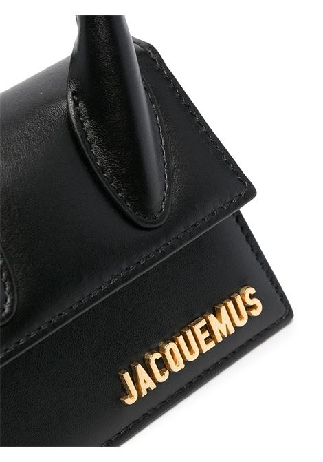 Black calf leather Le Chiquito Mini top-handle bag featuring Jacquemus gold-tone logo JACQUEMUS |  | 211BA01-300990