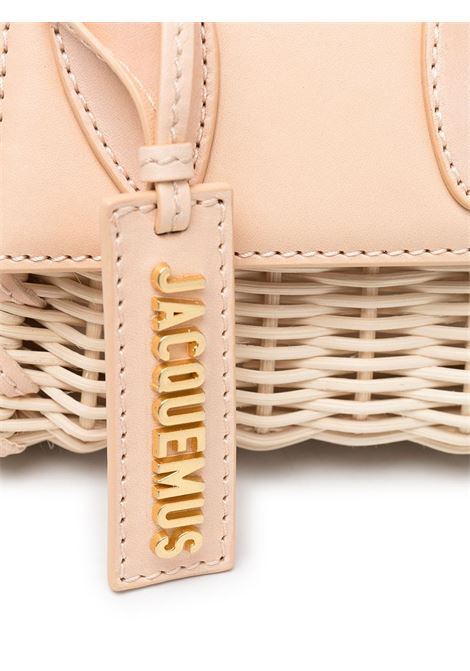 Light beige straw and leather Le Chiquito mini tote  JACQUEMUS |  | 211BA01-303170