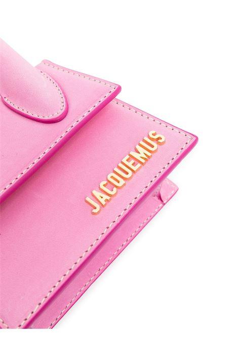 Borsa tote Le Chiquito in pelle rosa con logo lettering Jacquemus oro JACQUEMUS | Borse a tracolla | 211BA01-304450