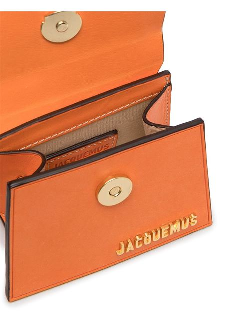 Orange leather mini Le Chiquito featuring gold-tone Jacquemus logo lettering JACQUEMUS |  | 211BA01-304740