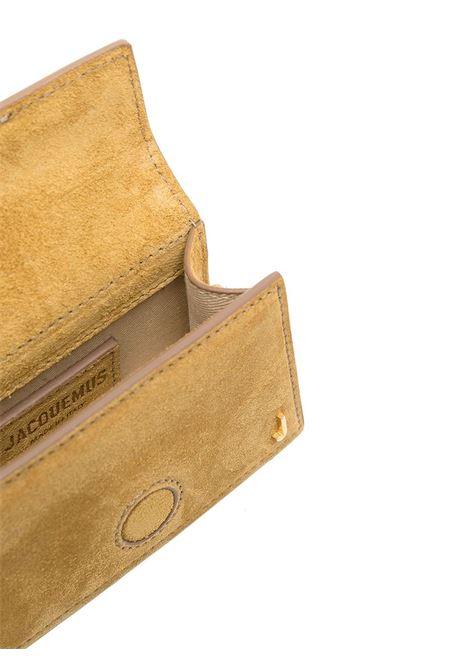 Borsa tote Le petit Bambino in pelle di camoscio giallo scuro con logo Jacquemus color oro JACQUEMUS | Borse a tracolla | 211BA06-310290